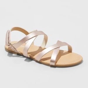 Girls' Nia Ankle Strap Sandals - Rose Gold